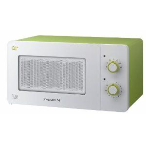 Daewoo QT2 Compact Microwave Oven 14 Litre, 600 Watt, White/Lime Green: Amazon.co.uk: Kitchen & Home