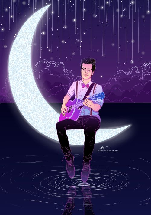 silver hearts Panic  at the Disco  Brendon Urie art  by spencejsmith  Wow this is absolutely beautiful