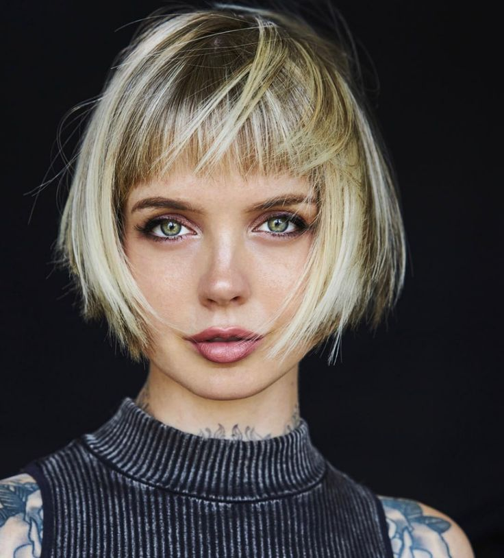10 Trendy Messy Bob Hairstyles and Haircuts, 2021 Female Short Hair Ideas | Messy bob hairstyles, Short hair styles for round faces, Thick hair styles