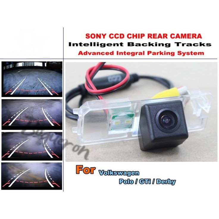 Car Intelligent Parking Tracks Camera For Volkswagen VW Polo / GTi / Derby HD CCD Rear View Reverse Camera / Rear View Camera