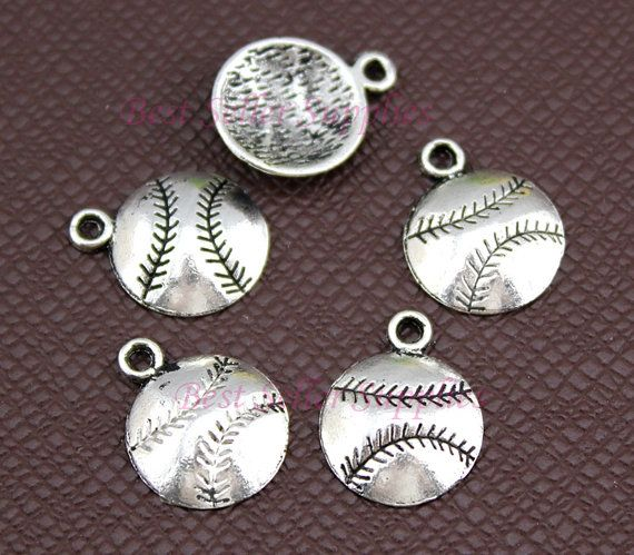 25 PCS Baseball Charms Softball Pendants in by BestSellerSupplies