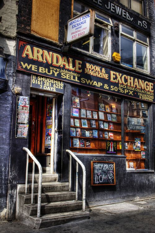 Book exchange, Shude Hill, Manchester