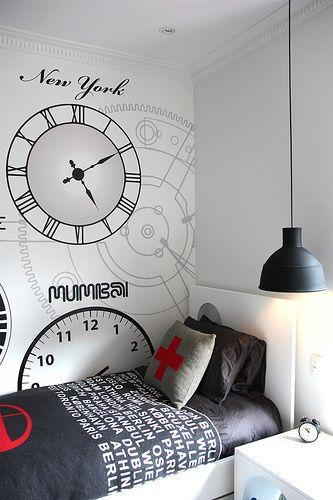 habitación de relojes