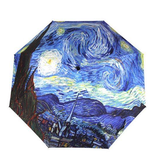 Guarda Sol De Praia guarda chuva de Arte Pintura A Óleo de Vincent Van Gogh Noite estrelado Chuva 3 Fold Anti Uv óculos de Sol Da Moda Venda Quente abstrato em Guarda-chuvas de Home & Garden no AliExpress.com | Alibaba Group