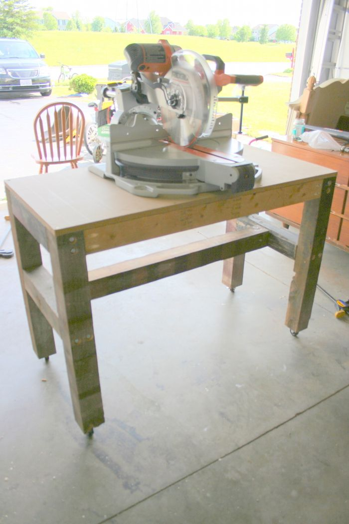 ridgid miter saw table. easy, inexpensive and super strong movable work bench | do it yourself home projects from. miter saw tableridgid ridgid table