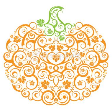 Pumpkin; wondering if kids could replicate something like this with stamps inside the outline of a pumpkin??