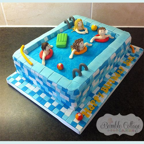 Swimming Pool Cake Ideas swimming cake Swimming Pool More Bumble Cottage Cakes Gallery Of Childrens