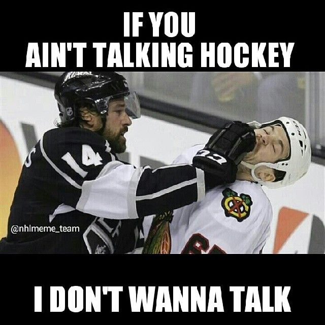 Talk hockey