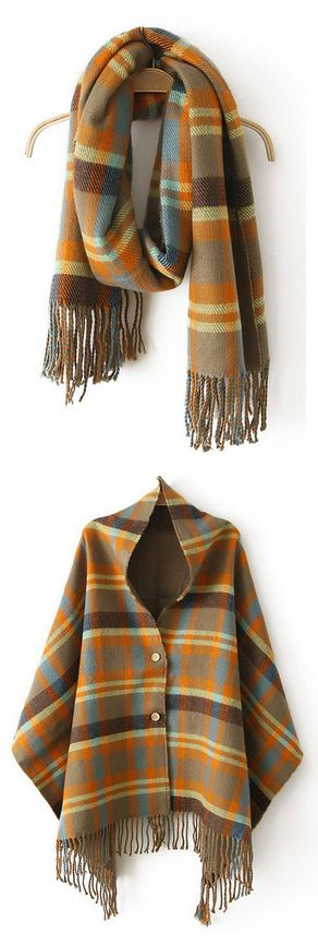 Plaid Scarf Shawl