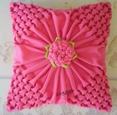 Canadian smocking - pretty pink cusheon
