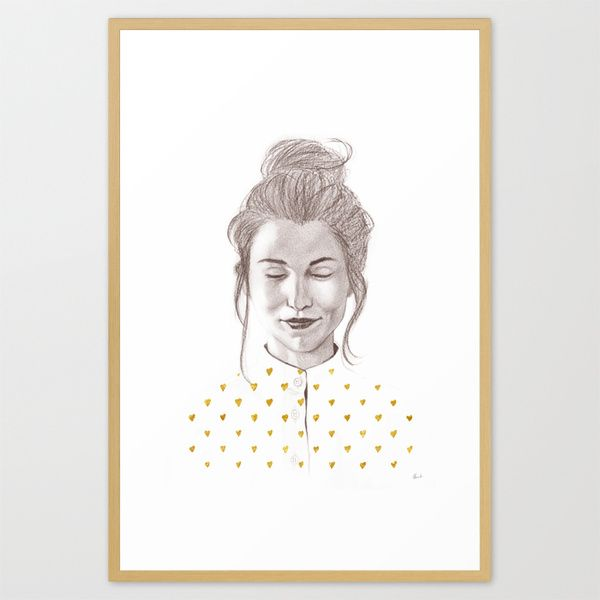 """""""Thinking About You""""  print available at Society6"""