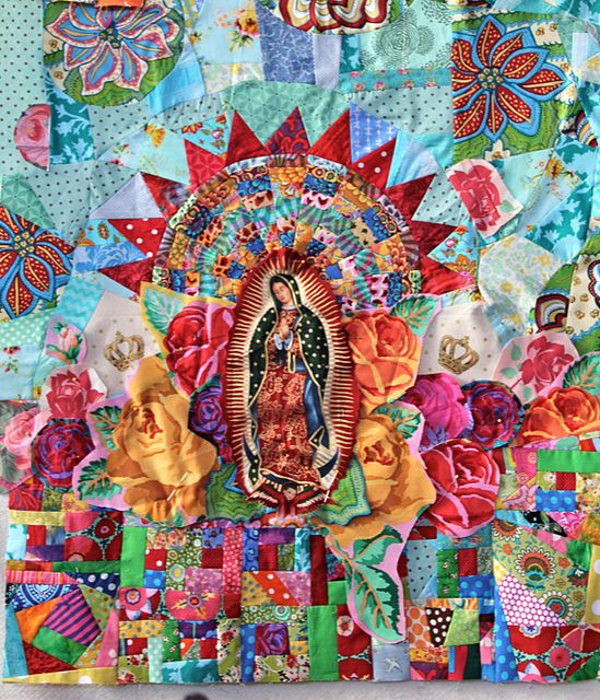 Lady of Guadalupe - work in progress - www.bumblebeansin...