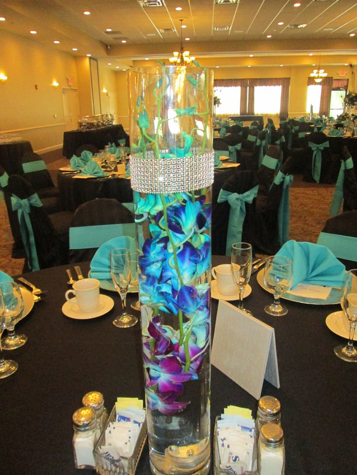 Beautiful blue and purple orchids centerpieces # ...