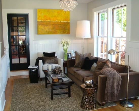 Light Grey Living Room With Brown Furniture Set Up Family Inspiration Love The Texture Of Rug Throw Silver On Lamps Bright Artwork Amanda S House Pinterest And