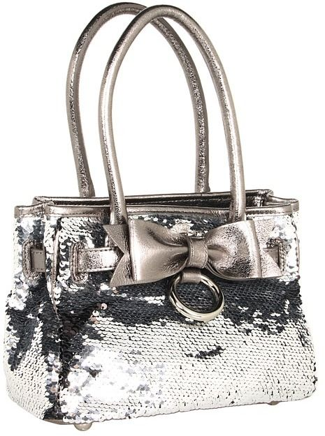 I totally fell in love with this bag but didn't get it. My Flat In London - Miss Money Penny Tote (Black/Plat)