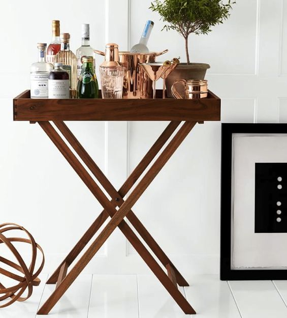 Butler Tray and Stand #barcart