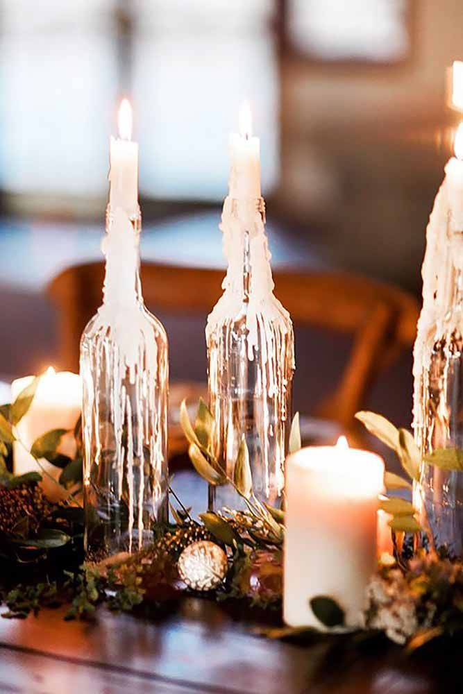 33 beautiful ways to use candles at your wedding beer bottle centerpiecescandle wedding centerpiecescentrepiecescheap - Cheap Wedding Reception Decorations