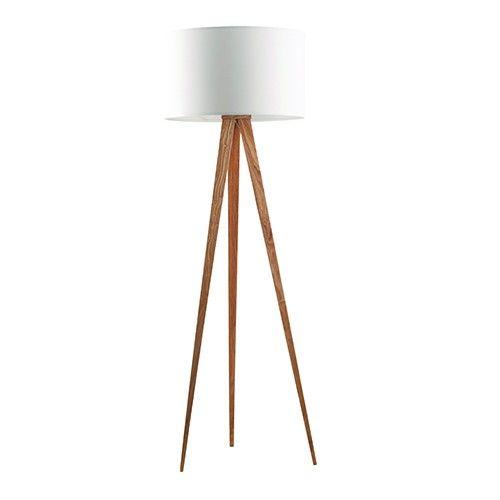 Materiaal: metalen frame met fineer bekleed, textiel kap Lichtbron: E27, max. 25 watt Snoer met aan/uit knop