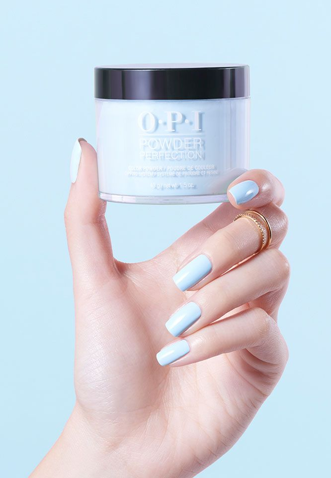 Dipping Powders Baby Blue Nails Powder Nails Dipped Nails