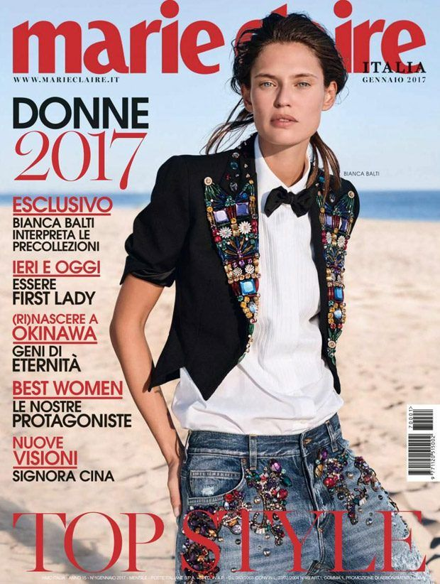 Bianca Balti Stars in Marie Claire Italia January 2017 Cover Story