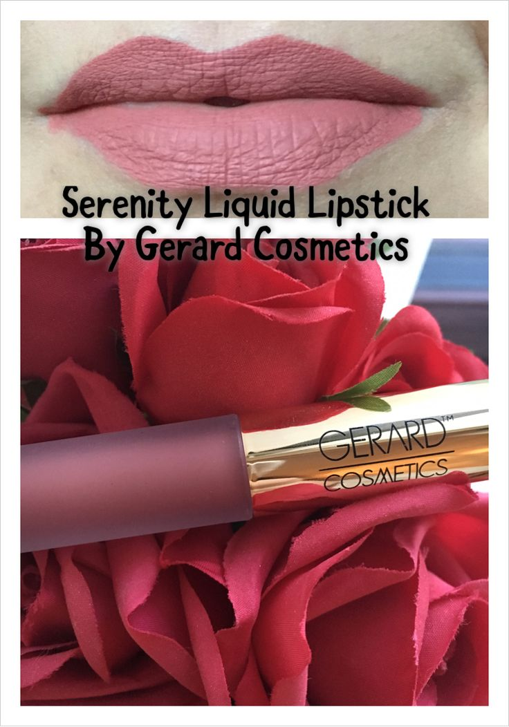 A review and swatches of the Gerard Cosmetics Hydra Matte liquid lipstick in Serenity