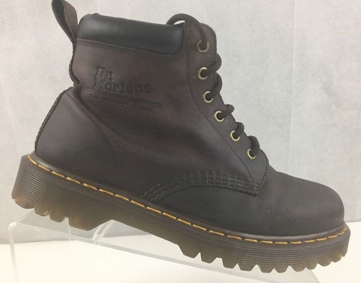 Dr Martens Air Wair Distressed Soft Leather Padded Collar Mens Boot UK 7 US 8M  #DrMartens #AnkleBoots #Casual