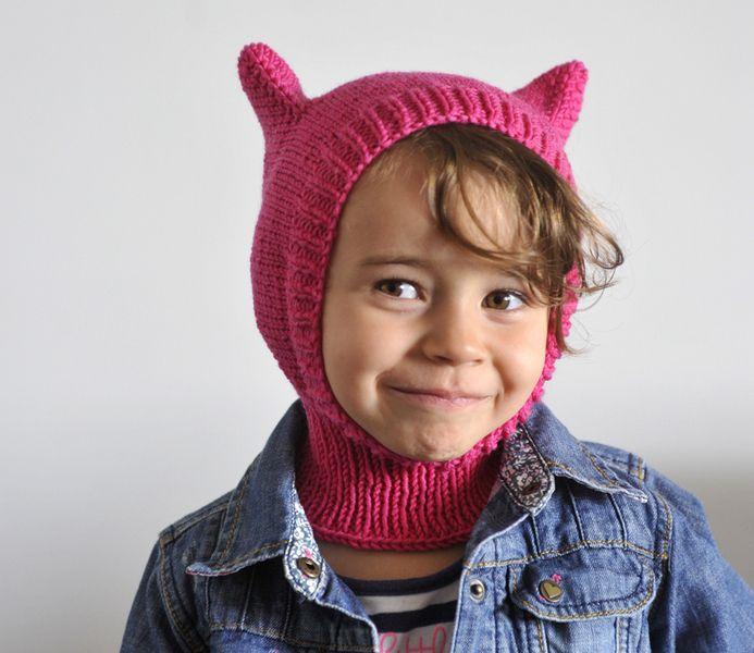Newsboy Caps – pink cat balaclava – a unique product by testecalde on DaWanda