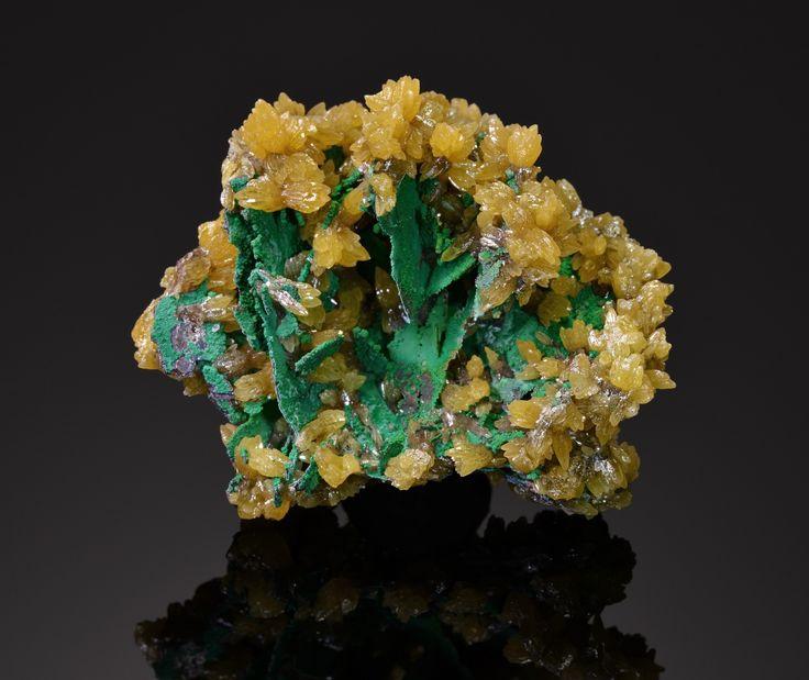 Mimetite, (w. Malachite, and Copper)