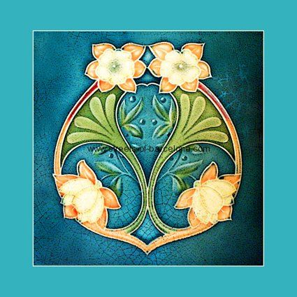 """From """"Art Nouveau Tiles with Style"""" by Robert Smith, art-nouveau-10, Streets of Barcalona"""