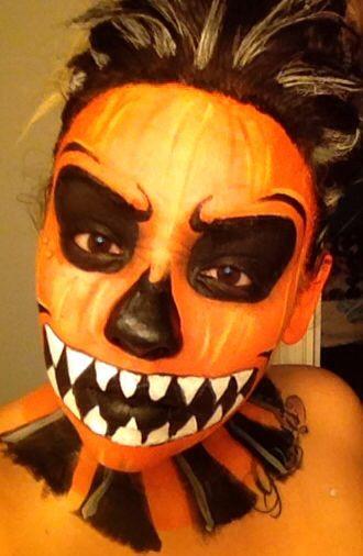 Scary Pumpkin Facepaint Natasha Vera Face Paintings