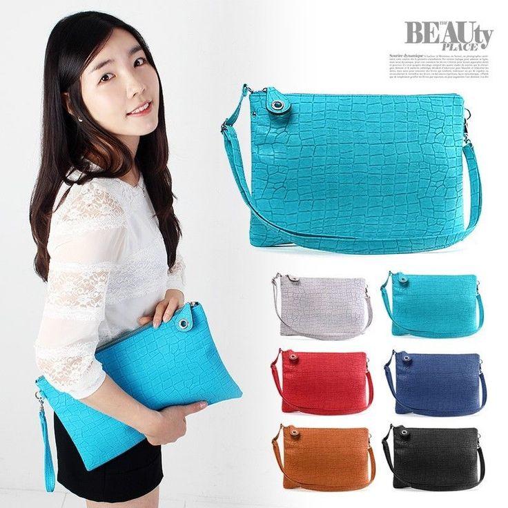 New Korean Lady Women Hobo Faux Leather Messenger Handbag Shoulder Bag Totes #Unbranded #Clutch