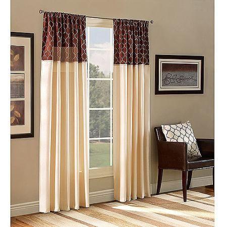Belle Maison Ludlow Reversable Panel In Mocha **Walmart $15 Part 79