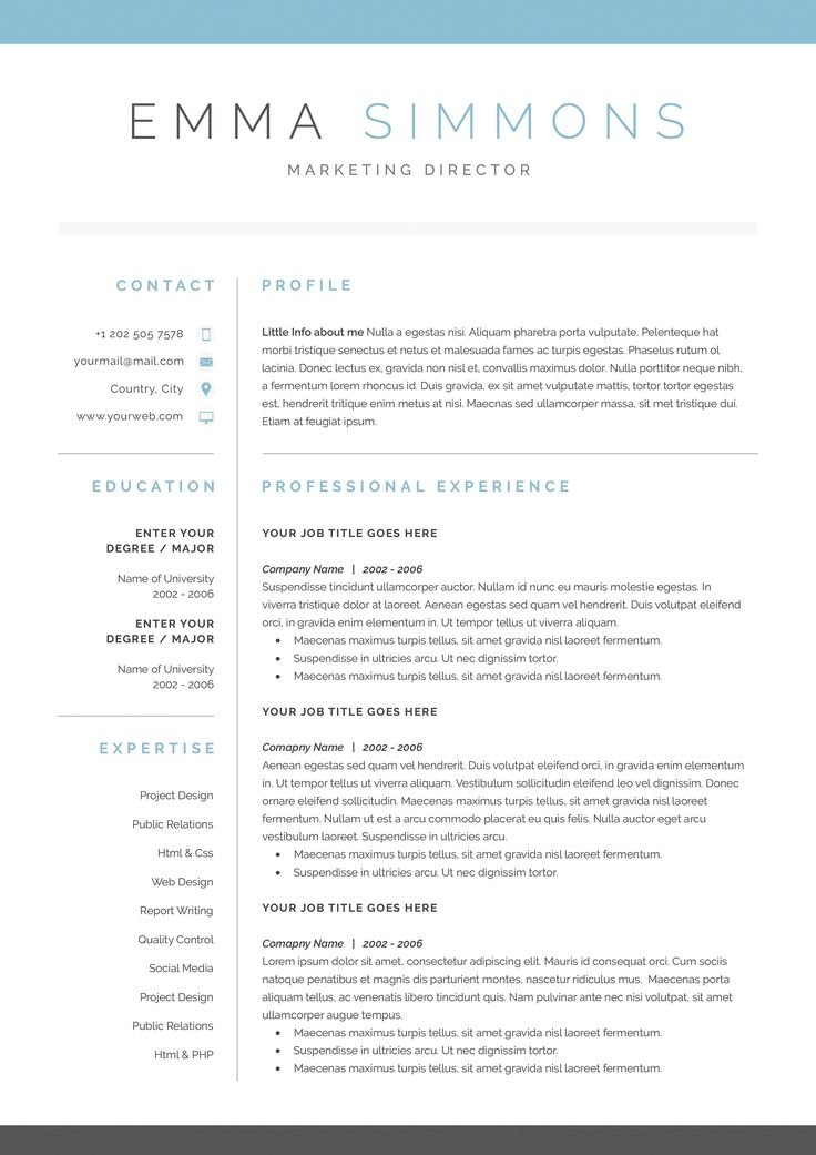 word resume cover letter template by demedev on creativemarket