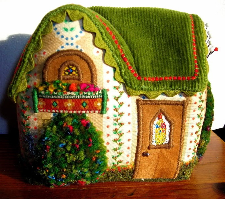 Charming English Cottage Pincushion All Handmade with Intricate Handmade Detail | eBay