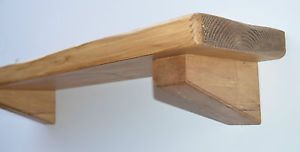 Chunky Rustic Solid Wood Floating Shelf Shelves Mantle & Corbel Reclaimed timber