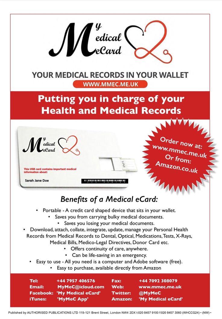 Benefits of My Medical eCard www.mmec.me.uk