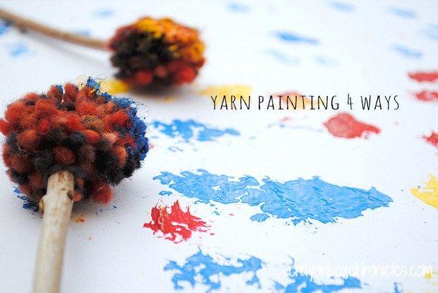 Sunday Visual Diary #23: Yarn painting with kids
