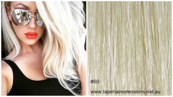 #60 - Platinum blonde hair extension We supply the worlds best quality and longest Lasting 100% Pure Virgin Remy Tape Hair Extensions, clip in hair extensions, micro-bead hair extensions, weft / weaves, flip-in / halos ponytails and keratin bond hair extensions on the Market. #besthairextensions #russiantapehairextensions #tapehairextensions #virgintapehairextensions #hairextensions