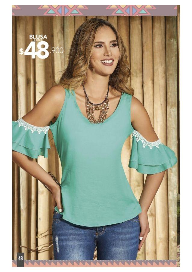Modelos de blusas y vestidos de verano
