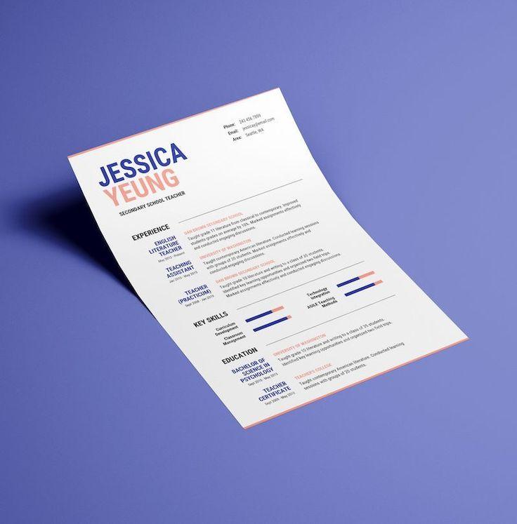 best color palette for resume