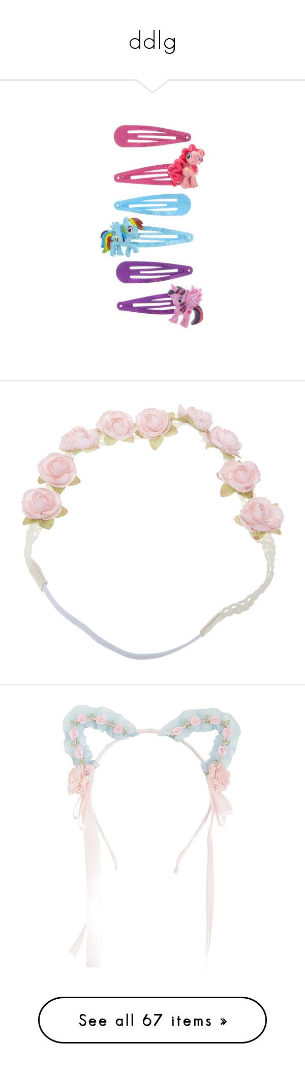 """ddlg"" by darkmist77 ❤ liked on Polyvore featuring hair, hair accessories, accessories, headbands, fillers, head, boho flower headband, flower hair accessories, crochet flower headwrap and bohemian flower headband"