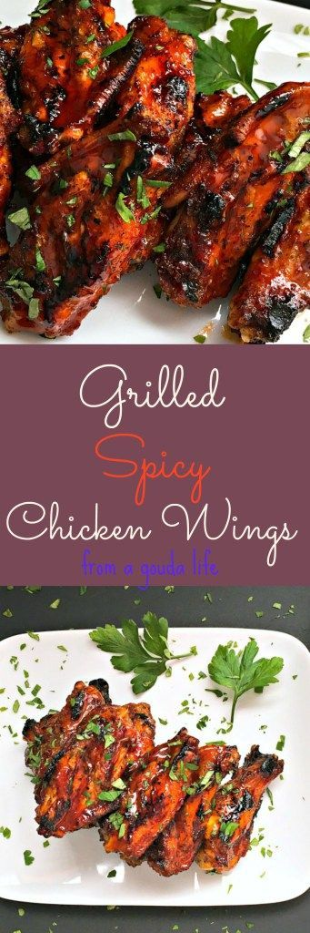 Easy Grilled Spicy Chicken Wings with a sweet-spicy sauce extra rich and flavorful with the addition of Jack Daniels.
