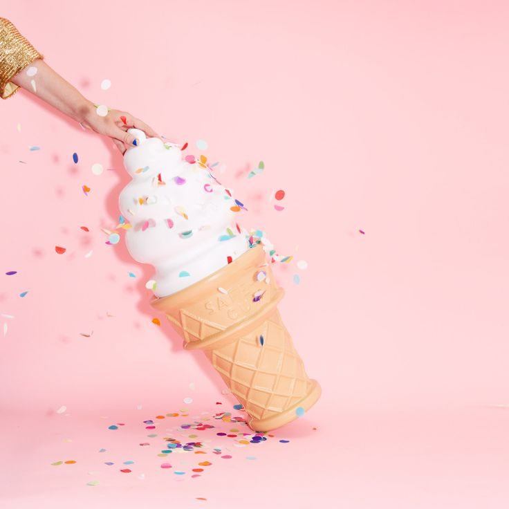 giant ice cream cone bank - ban.do  How great would this look in a nursery? SO GREAT.