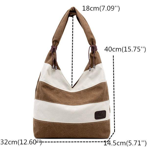 Hot-sale designer Women Leisure Canvas Stripe Handbag Shopping Tote Bag Big  Bag Online - NewChic Mobile a0433d9cc