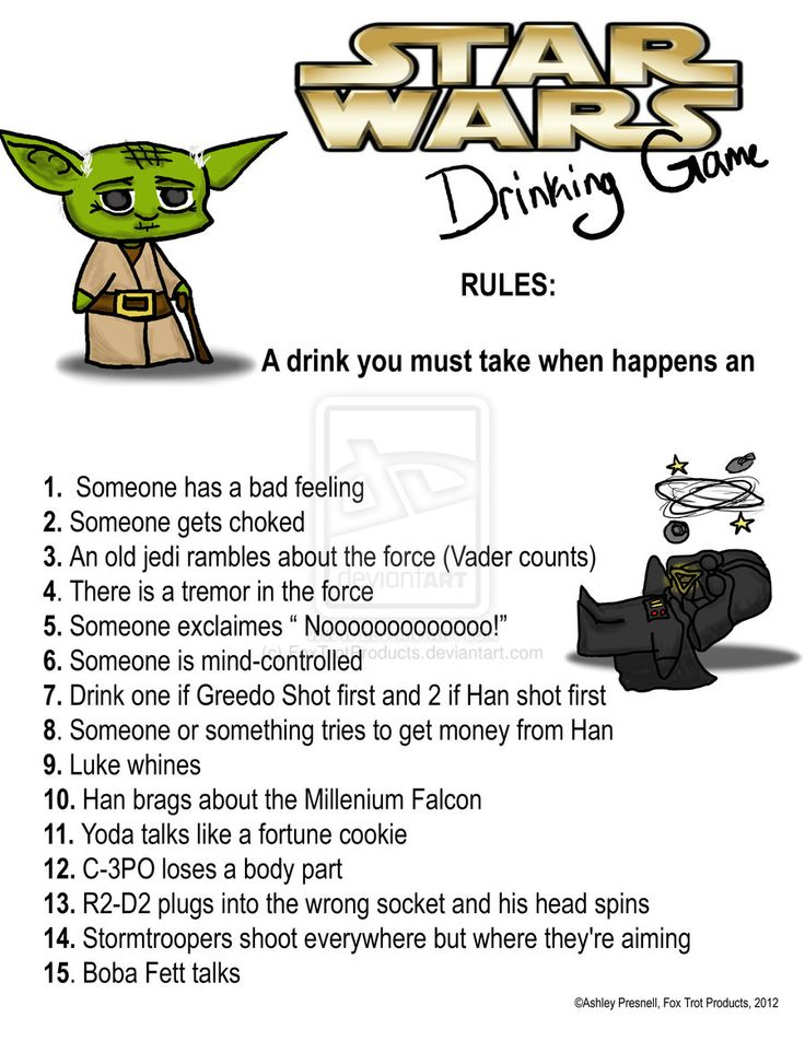 Need an excuse to drink? Here you go! Drinking games for movies and tv shows