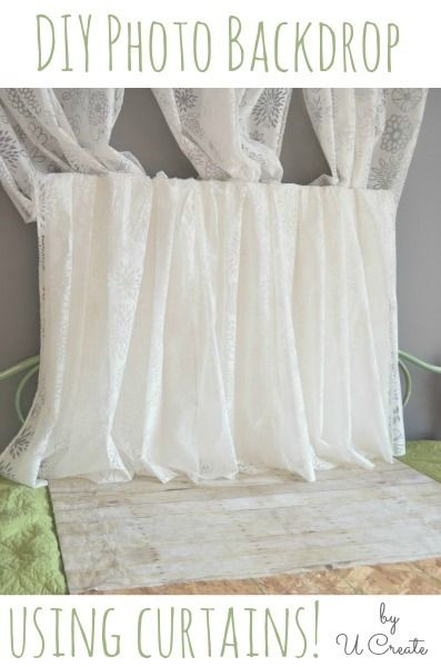 DIY Photoshoot Backdrop - great for something last-minute! Inexpensive, too!
