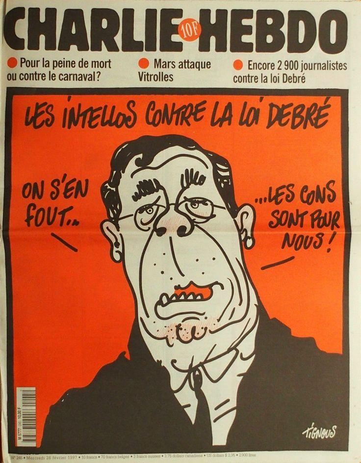Charlie Hebdo - # 245 - 26 Février 1997 - Couverture : Tignous