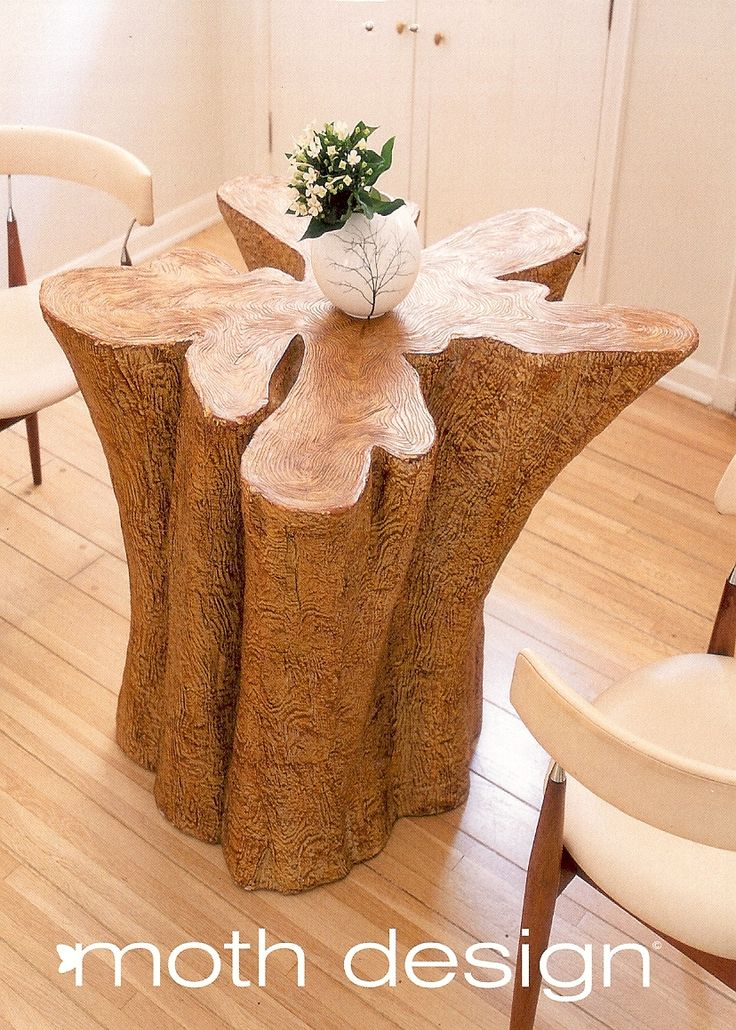 Charming Tree Trunk Table Uploaded By Loridennis.com