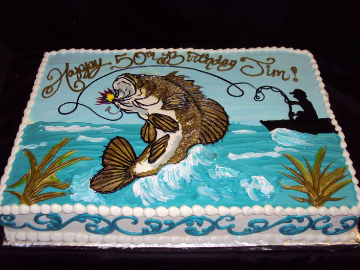 Bass Fishing Cake by SugarBakers
