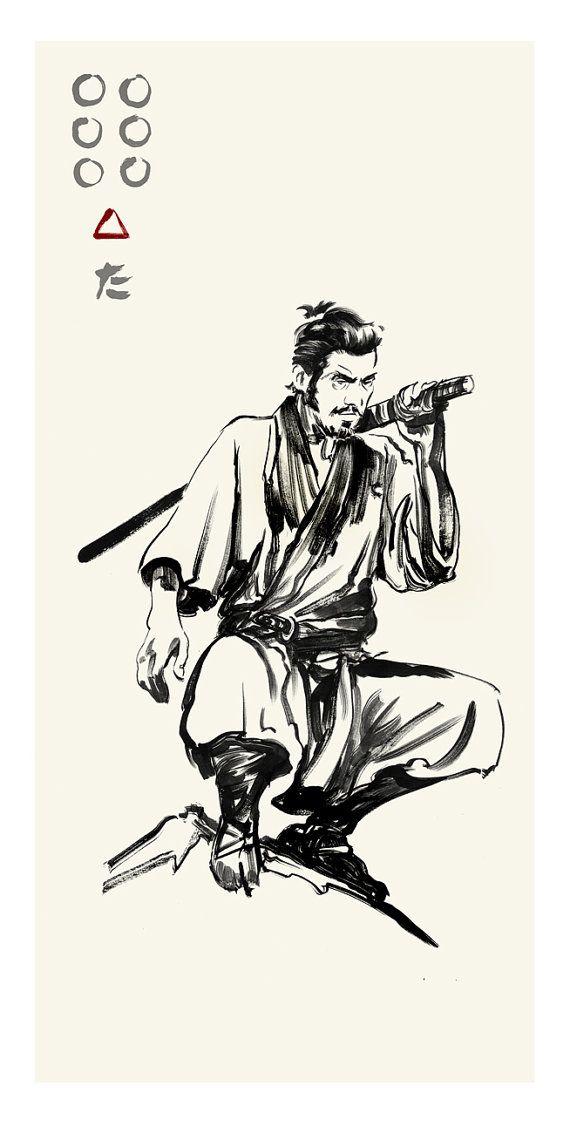 """valsedelalune: """"Greg Ruth - Seven Samurai Artwork. Amazing ink techniques! http://www.gregthings.com/ """""""